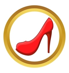 Red high heel shoe icon vector image