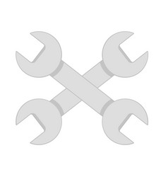 repair service icon two gray wrenches on white vector image