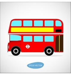 Retro city bus on a white background vector