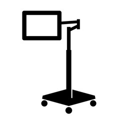 Rolling bedside pad stand vector