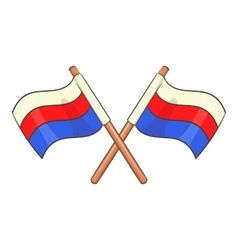 Russian national flags icon cartoon style vector image
