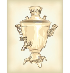 russian samovar vintage vector image vector image