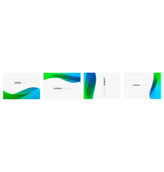 Set colorful gradient curve on white vector