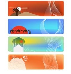 Set of 3 banner vector image