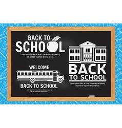 Set of Back to School retro design vector