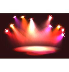 Set of pinky orange stage lights vector