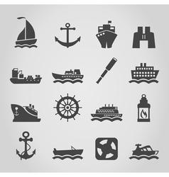 Ship an icon vector image