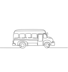 single continuous line drawing old elementary vector image