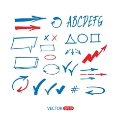 Sketch arrow set vector image