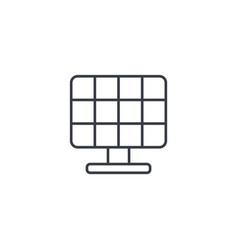 solar panel alternative sun energy thin line icon vector image