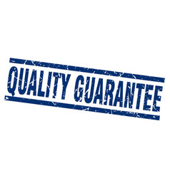 square grunge blue quality guarantee stamp vector image vector image