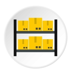 Storage of goods icon flat style vector image