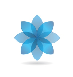 Stylish blue flower logo vector