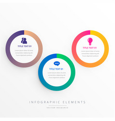 Stylish three colorful circles infograph vector