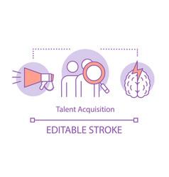 Talent acquisition process concept icon vector