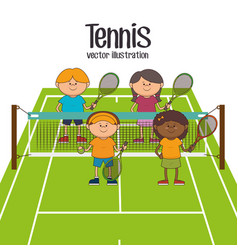 Tennis sport game vector