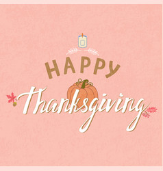 thanksgiving typography poster vector image