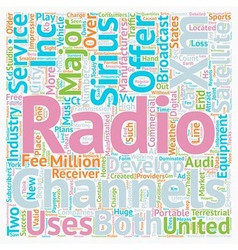 The development of Satellite radio in the United vector image