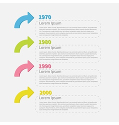 Timeline Infographic with colored arrows and text vector image