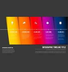 timeline template with blue diagonal blocks vector image