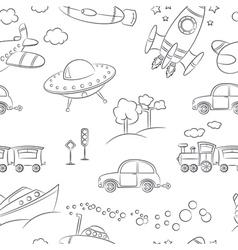 Transportation pattern vector image