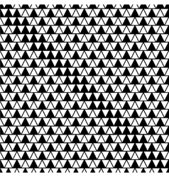 Triangle white and black seamless pattern vector image