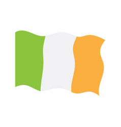 waving flag of ireland vector image