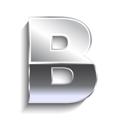 B Metal font vector image vector image