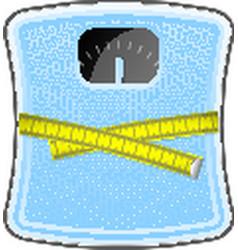 Bathroom blue scale vector image