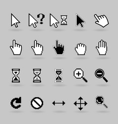 Cursors icons vector image vector image