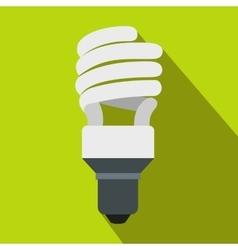 Energy saving bulb icon flat style vector image vector image
