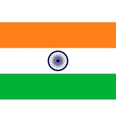 Flag of India in correct proportions and colors vector image vector image