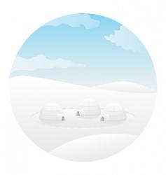 igloo vector image vector image