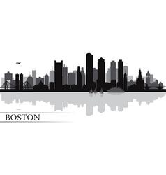 Boston city skyline silhouette background vector image