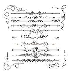 calligraphic design elements or decorations vector image