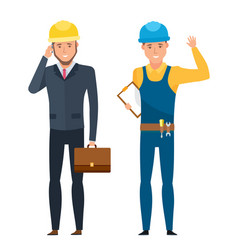 chief engineer for construction in working suits vector image vector image