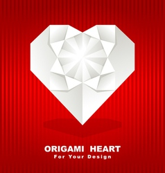 origami heart background vector image