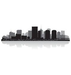Richmond USA city skyline silhouette vector image