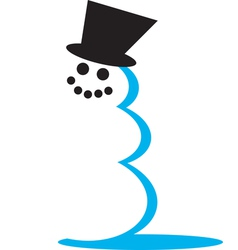 Snowman hat vector image vector image
