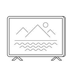 tv set line art simple gadget icon vector image vector image