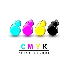 Cmyk icons vector image