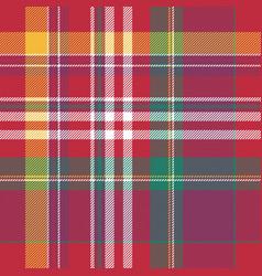 pink plaid tartan seamless pattern vector image vector image