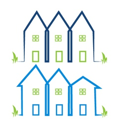 Real estate houses logos vector image vector image