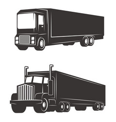 set of cargo truck isolated on white background vector image