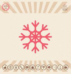 snowflake symbol icon vector image