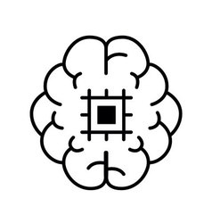 Symbol artifical intelligence Quality Outline vector image