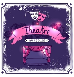 Theater Poster Sketch vector image vector image