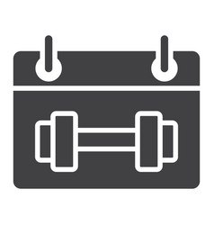 training schedule glyph icon fitness and sport vector image vector image
