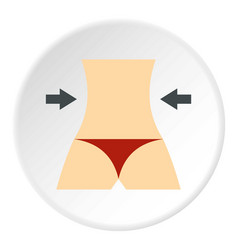 Women slim body icon circle vector