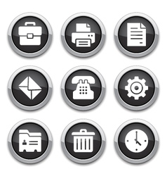 black office buttons vector image vector image